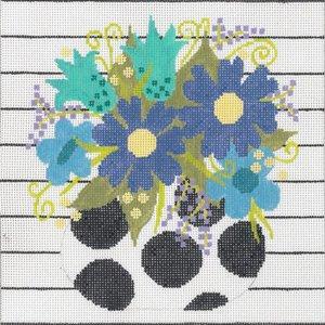 Machelle Somerville Needlepoint-Petite Pot Blue