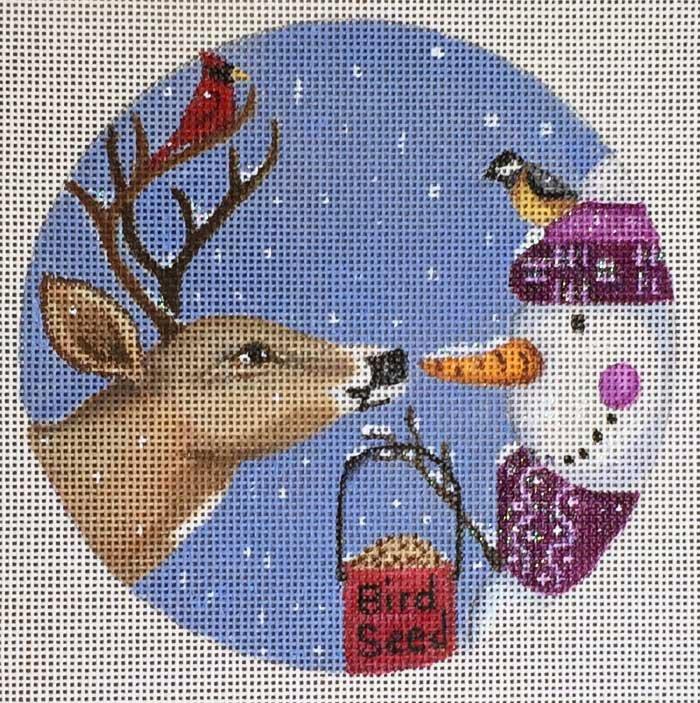 Needlepoint Christmas Ornament Temptation