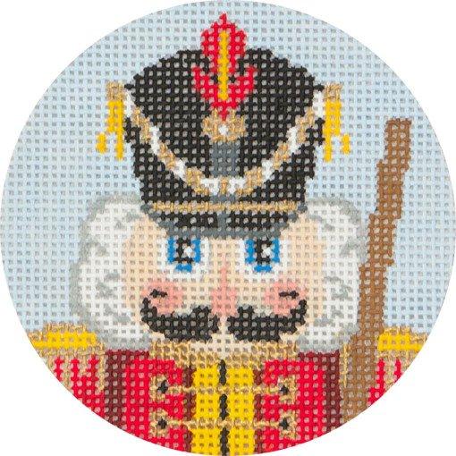 Needlepoint Christmas Ornament Nutcracker Soldier