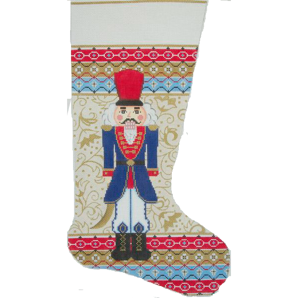 Needlepoint Christmas Stocking Regal Nutcracker-in stock
