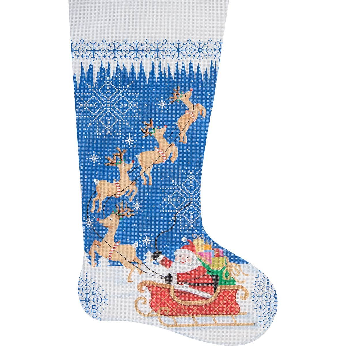 Needlepoint Christmas Stocking Merry Christmas
