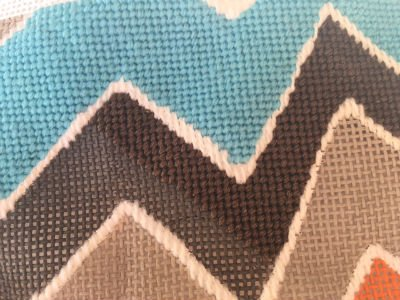 stitching dark colors in needlepoint