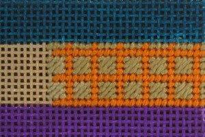 needlepoint framed scotch stitch how to
