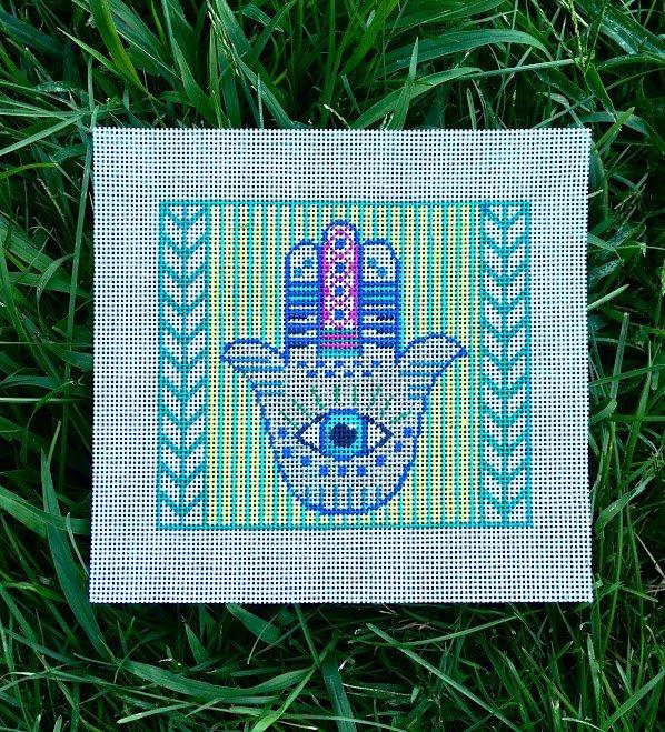 Hamsa Needlepoint By Thorn Alexander