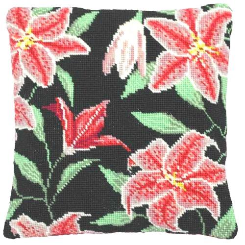 Needlepoint Pillow Kit Stargazer Lily