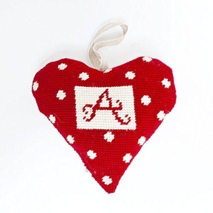 Needlepoint Ornament Heart Alphabet