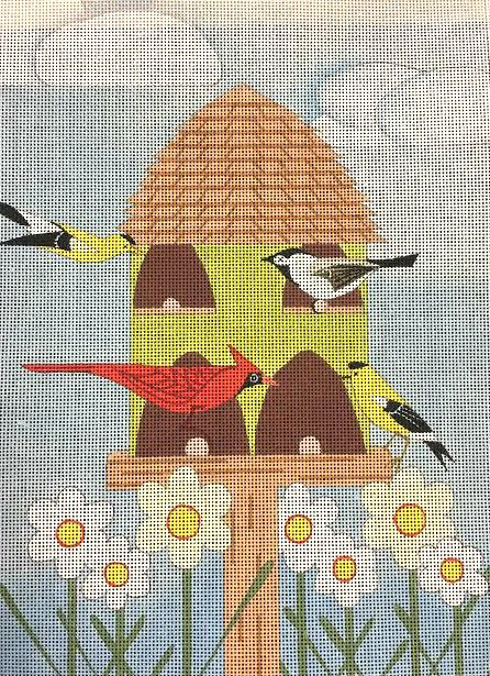 Birdhouse Village Needlepoint by Maggie Co