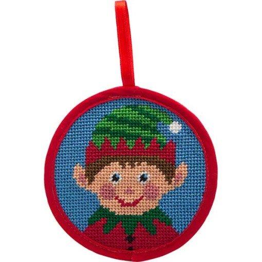 Needlepoint Christmas Ornament Kit Boy Elf
