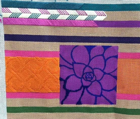 how to stitch stripes in needlepoint