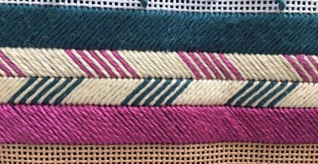 satin stitch for how to stitch needlepoint stripes