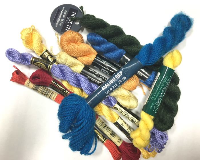 needlepoint threads fibers