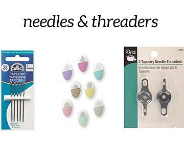 needles, needle pebbles and needle threader