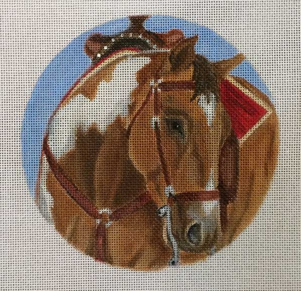 horse needlepoint ornament neah stone