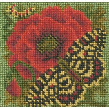 Poppy & Butterfly mini tapestry kit by Elizabeth Bradley