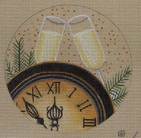 New Year's Celebration Needlepoint ornament