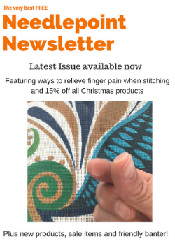 best needlepoint newsletter tools for finger pain