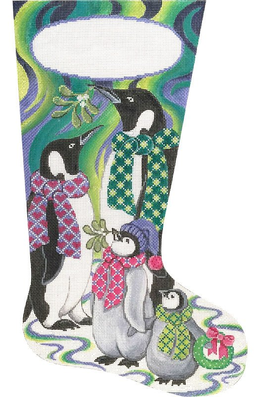 Northern Lights Penguin Stocking