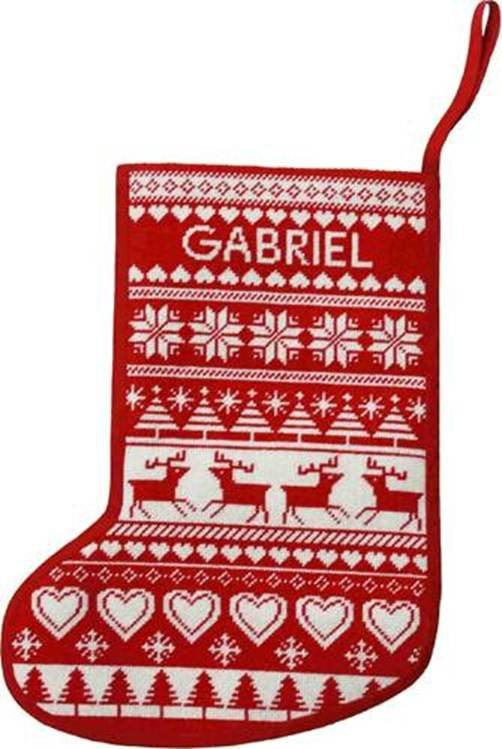 Needlepoint Christmas Stocking Reindeer