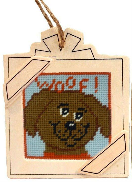 hanging frame needlepoint ornament