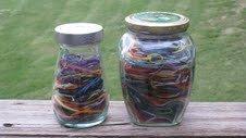 needlepoint ort jar