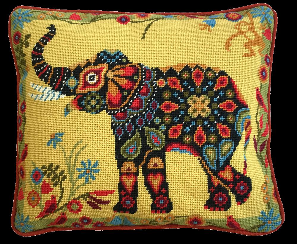 Painted Elephant Needlepoint Kit