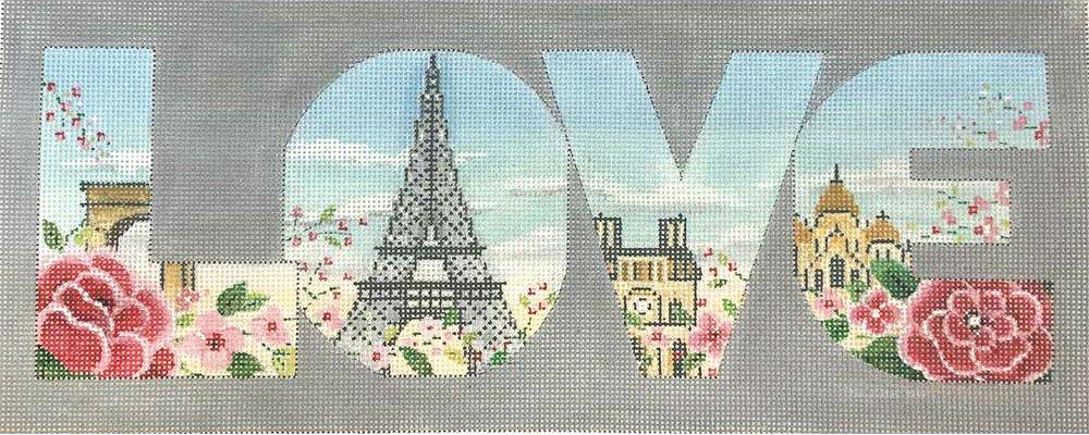Paris Love Needlepoint