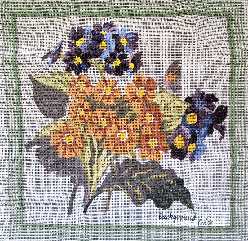 Penelope Needlepoint<BR>Primula Bouquet
