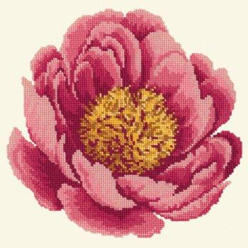 Blooms Peony tapestry kit by Elizabeth Bradley