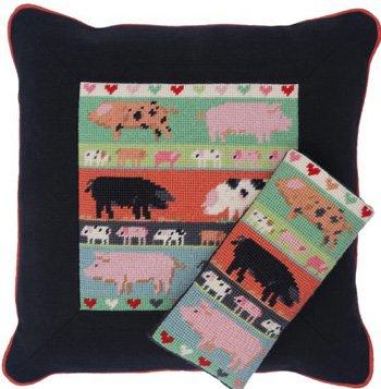 Pigs & Piglets Needlepoint Kit