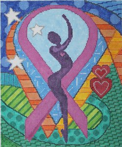 Pink Ribbon Contemporary Art