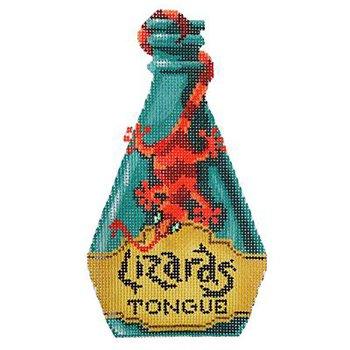 Poison bottle Lizard's tongue Halloween needlepoint
