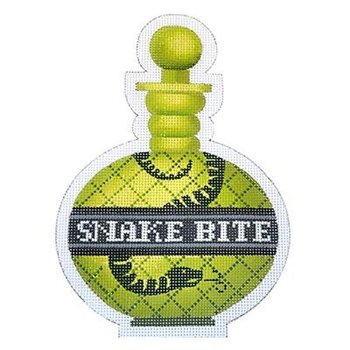 Poison bottle Snake Bite Halloween needlepoint
