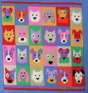 Pop Art Dogs small Needlepoint Kit