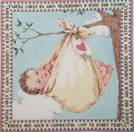 Baby's Room Needlepoint Bundle of Joy