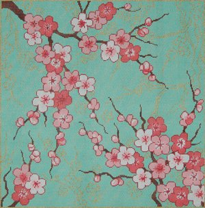 Sandra Gilmore Needlepoint<BR>Cherry Blossoms
