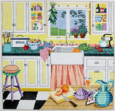 Grandma's Kitchen Needlepoint By Sandra Gilmore