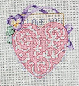 Sandra Gilmore Needlepoint<BR>Heart
