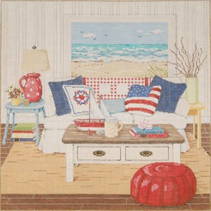 Sandra Gilmore Needlepoint<BR>At The Seashore