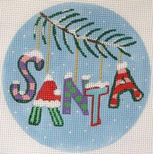 SANTA a Whimsical Christmas Ornament