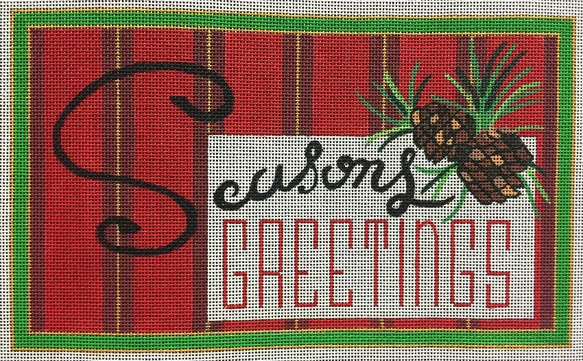 Seasons Greetings Needlepoint - in stock