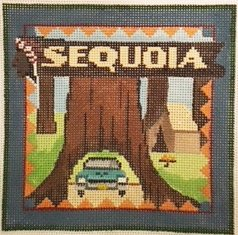 Sequoia needlepoint by Denise De Rusha
