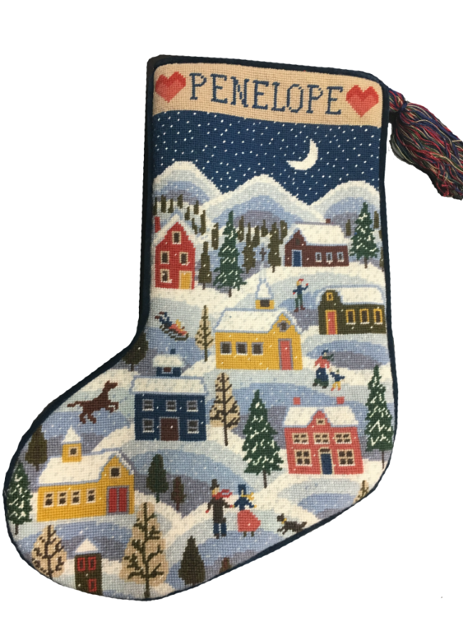 Christmas Stocking Needlepoint Kit Winter Shaker
