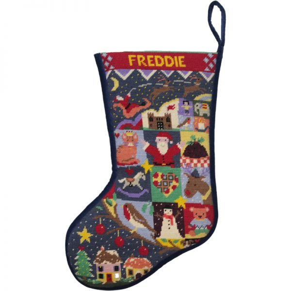 Silent Night Needlepoint Christmas Stocking Kit