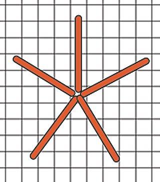 Spokes of spider web needlepoint stitch