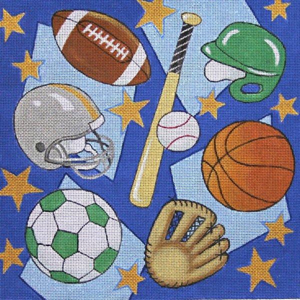 Sports Blast Needlepoint