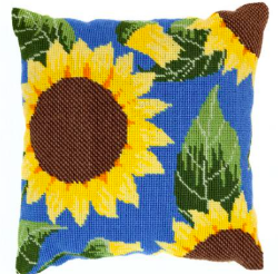 Needlepoint Pillow Kit Sunflowers