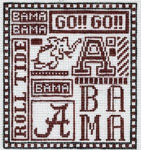 College Needlepoint - U of Alabama
