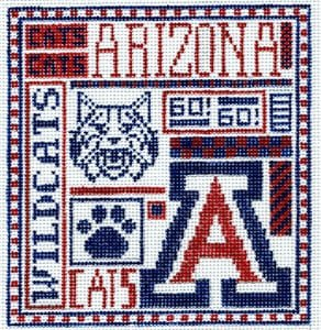 College Needlepoint - U of Arizona