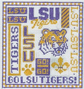 College Needlepoint -  LSU Tigers