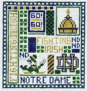 College Needlepoint - Notre Dame